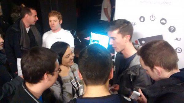 Dubstarts – Liuting explains the future to Trinity students.
