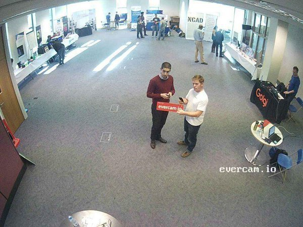 Evercam integrations at the DCU Innovation Centre Hardware Hackathon with PCH