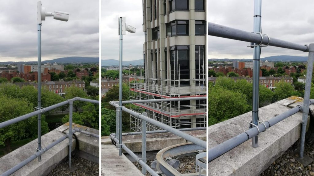 three different views from Evercam fixed position cameras