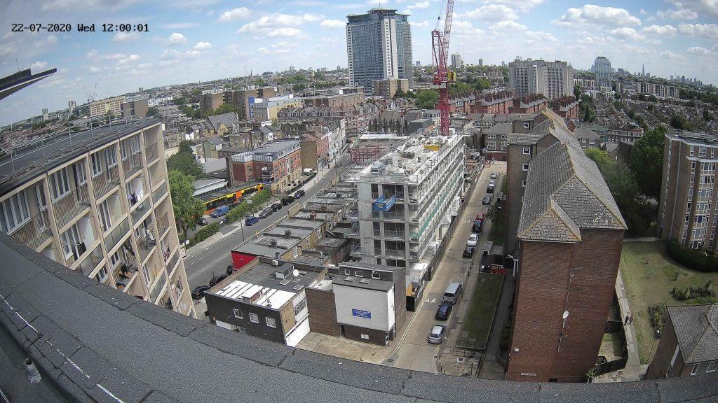 Camera View of Clem Atlee Estate Construction Progress