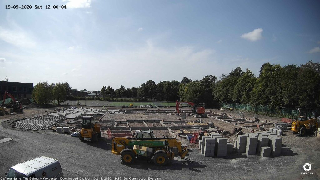 """Camera view of """"The Belmont"""" Construction site"""